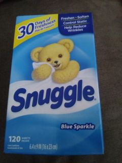 Snuggle dryer sheets 120 count