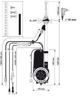 Buy NEW Hirschmann HIT AUTA 2040 Automatic Chrome Mast Motorized Power Radio Antenna motorcycle in Costa Mesa, California, US, for US $69.95