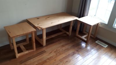 Large Coffee Table/End Tables