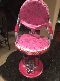 Doll salon chair fits american girl dolls and journey dolls and our generation dolls