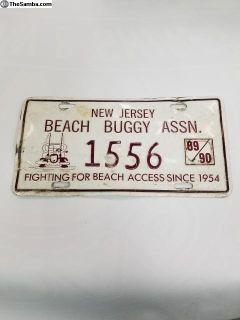 Beach Buggy Assn. License Plate (Rare)