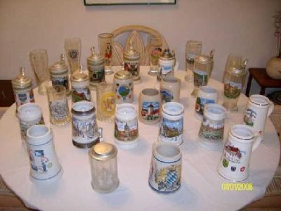 $100 Swabian (Southern Germany) Beer Mug, Stein, and Glass Collection
