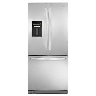 Whirlpool 19.7 cuft 30-inch French Door Refrigerator w/Water Dispenser