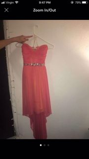 Strapless Pink Homecoming/ Prom Dress