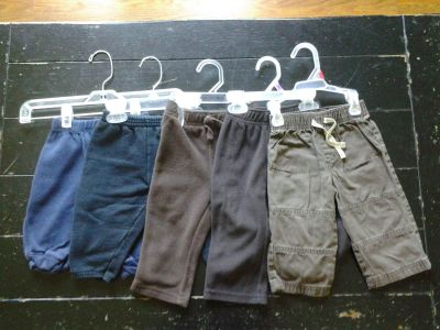 LOT 4: (SIZE: 12 MONTHS) 5 PAIRS OF PANTS -- $6