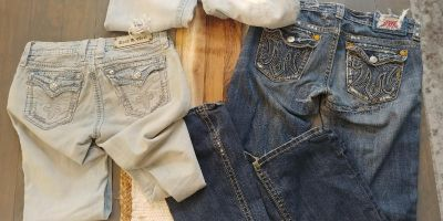 """3 pair of """"Buckle"""" jeans. Size 27 + 28"""