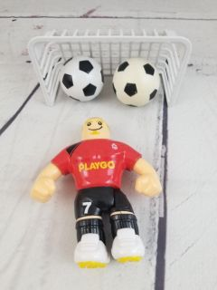 """PlayGo Soccer """"Kick Off"""" Red Footballer & Goal with 2 balls"""