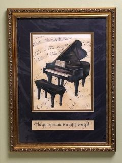 Grand Piano Framed Picture
