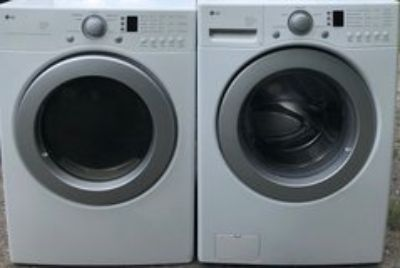 LG washer end dryer front load