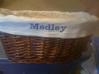 Wicker Basket with your Monogrammed name