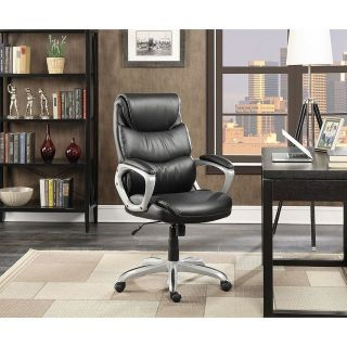 Serta Leather Manager's Adjustable Office Chair [Black]