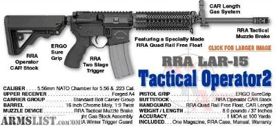 For Sale: Rock River Tactical Operator 2 ar-15