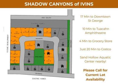 Shadow Canyons of Ivins Ivins, Several lots available in
