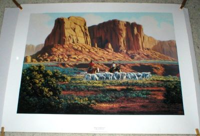 "Sheep Herders Poster - ""Valley Companions"" by Kenneth McKenna  (25"" x 32"")  1995"