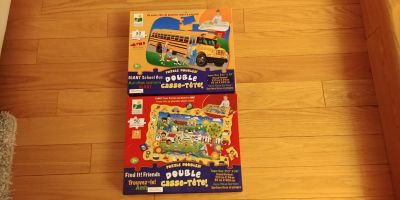 Set of 2, 2 in 1 floor puzzles. Excellent Condition.