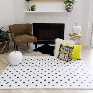 Modern floor tiles play mat