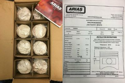 Full Set of Brand New Arias Pistons - FREE SHIPPING