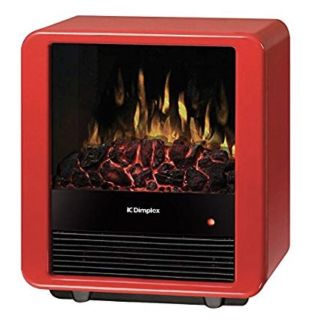 LIKE NEW! Dimplex Mini Cube Electric Stove in Red