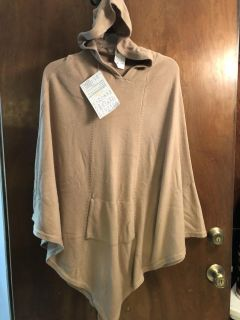 NWT! QVC HOODED CAPE - ONE SIZE FITS MOST