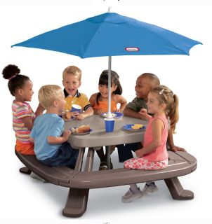 NEW Age Tikes Tips Fold 'n Store Picnic Table with Market Umbrella