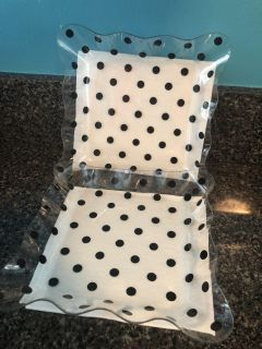 2 New Clear Acrylic Black Polka Dot Napkin Holders. $2 each 2/$3. Porch Pick up Available. Staples Mill at 295.
