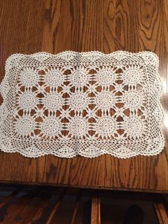 19 x 14 Vintage Crocheted Scarf