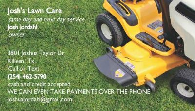 LOT CLEARING AND LAWN CARE (k cc hh n)