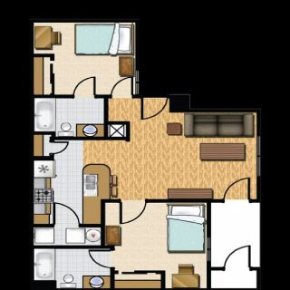 Apartment for rent - 2 leases in a 2bd/2bth at Castle Rock - 597.33 each