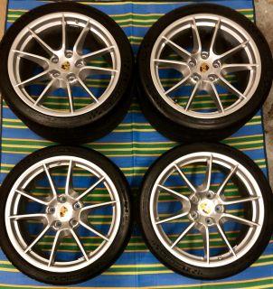 "Porsche 911 991 OEM Carrera S Wheel Tire Set 20"" Michelin Pilot Sport Cup 2 N1"
