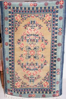 Antique handmade Chinese rug circa 1920