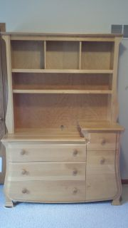 Dresser/changing table with hutch