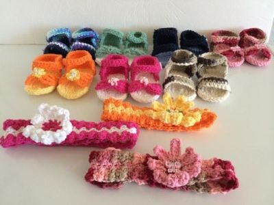 Baby Sandals Crocheted