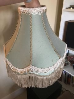 Two old fashion style lampshades (look old but they are newer)