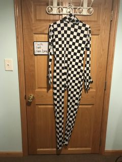 Black and white checker morph suit