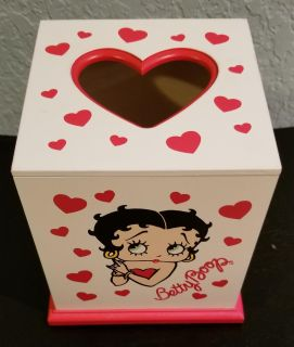 Betty Boop Wooden Tissue Box Holder. In excellent condition. No longer Collecting.