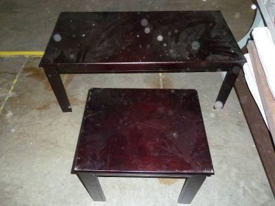 endtable and coffee table