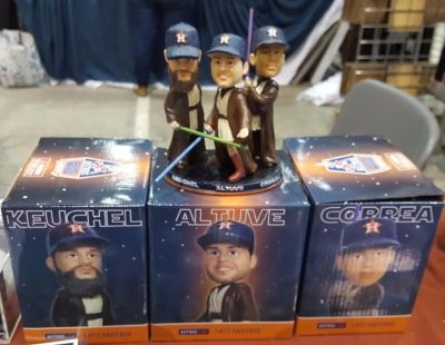 **** NEW ASTROS STAR WARS JEDI COUNCIL BOBBLEHEAD - NEW IN BOX - CALL NOW ****
