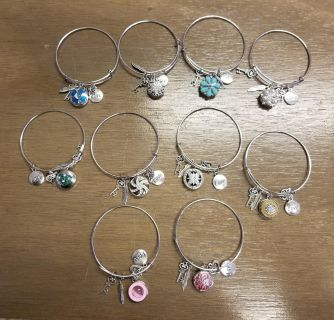 Alex and Ani Inspired Bracelets w Interchangeable charms