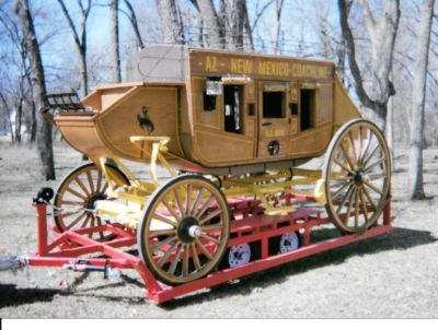 Handcrafted Stage Coach and Custom Built Trailer