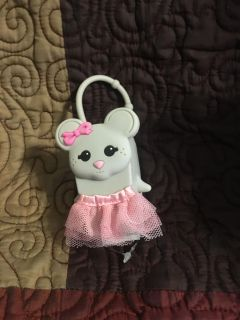 New Very Cute Rubber Hand Sanitizer Bottle Cover Girl Mouse Swap Only