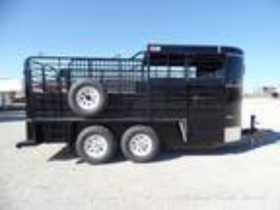 2019 GR 2019 GR 16ft Black Bumper Pull Stock Trailer Stock
