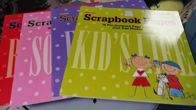 Set of 4 Premade Scrapbook Pages