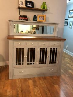 Refinished solid wood buffet