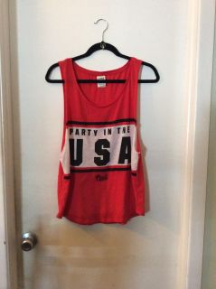 Victoria Secret Pink Party in the USA Tank, color is red, New