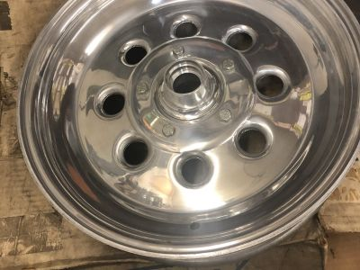 New 15 x 3.5 weld spindle mount wheels