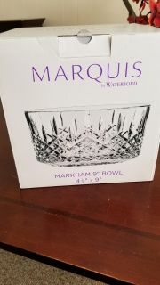 """Beautiful Marquis by Waterford 9"""" Crystal Bowl"""
