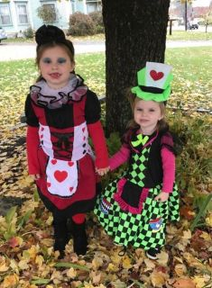Queen of Hearts & Mad Hatter Costumes.