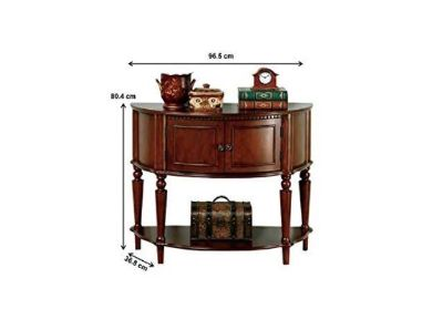 Wood entry way console