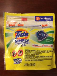 Brand new tide pods simply clean and fresh daybreak fresh laundry detergent