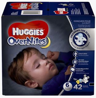 Huggies Overnites Diapers : Size 6. (( 42-Count. ))